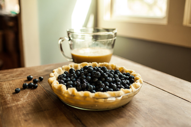 Granola Girl bakes || Blueberry Custard Pie-02