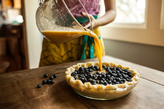 Granola Girl bakes || Blueberry Custard Pie-03