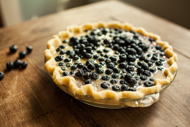Granola Girl bakes || Blueberry Custard Pie-04