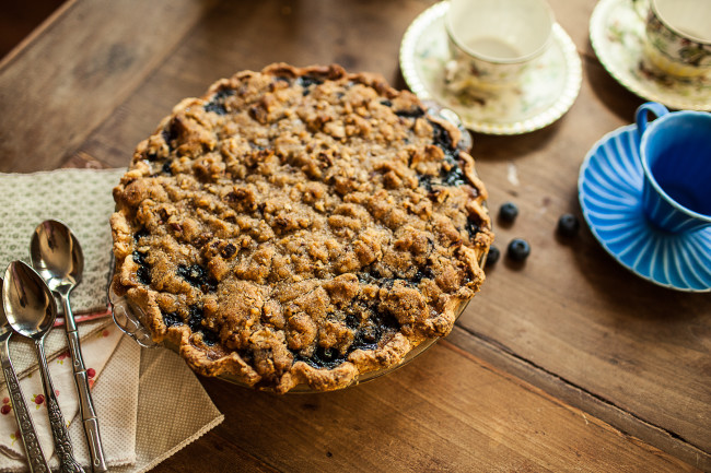 Granola Girl bakes || Blueberry Custard Pie-08