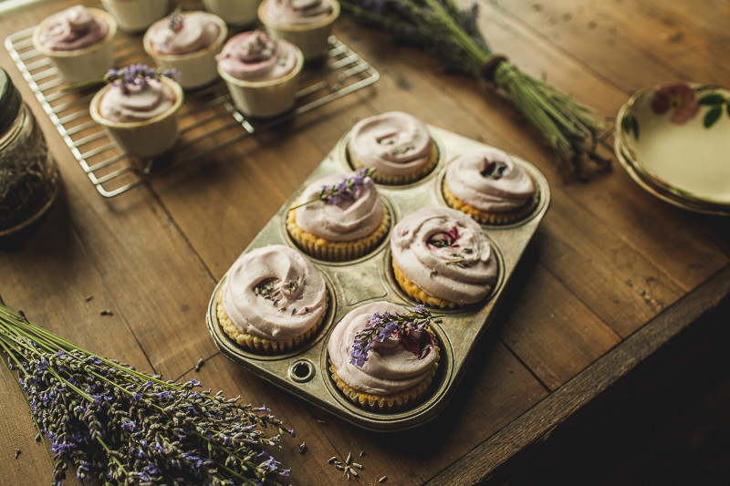 Garlands of Grace Lavender Lemon cupcakes 6